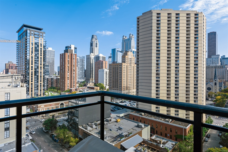 Real Estate Photography - 101 W Superior St, Unit 1203, Chicago, IL, 60654 - Balcony