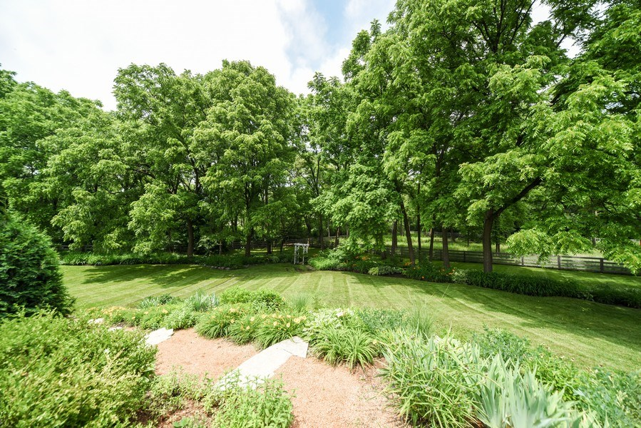 Real Estate Photography - 200 Dundee Rd, Barrington Hills, IL, 60010 - Back Yard