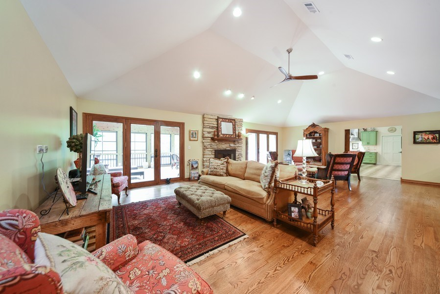 Real Estate Photography - 200 Dundee Rd, Barrington Hills, IL, 60010 - Family Room