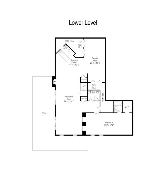 Real Estate Photography - 200 Dundee Rd, Barrington Hills, IL, 60010 - Floor Plan