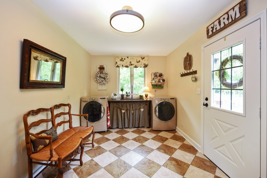 Real Estate Photography - 200 Dundee Rd, Barrington Hills, IL, 60010 - Laundry Room