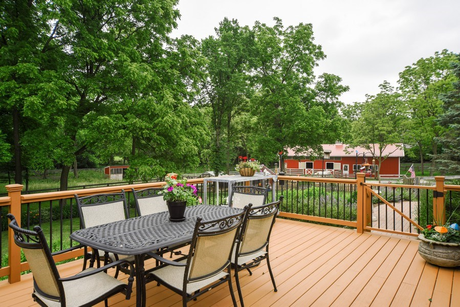 Real Estate Photography - 200 Dundee Rd, Barrington Hills, IL, 60010 - Deck