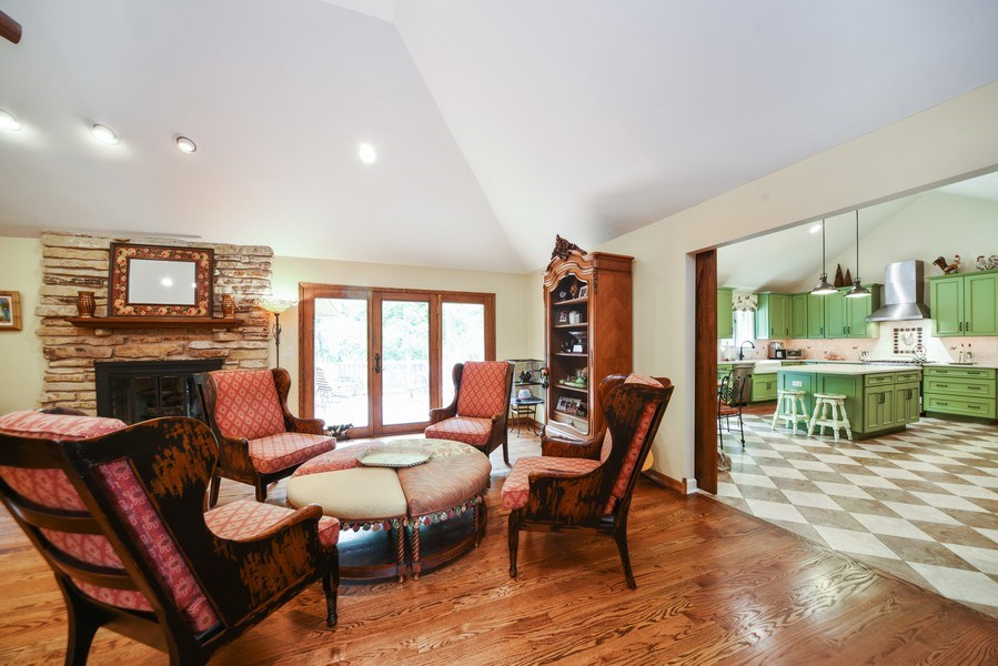 Real Estate Photography - 200 Dundee Rd, Barrington Hills, IL, 60010 - Family Room / Kitchen