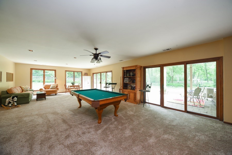 Real Estate Photography - 200 Dundee Rd, Barrington Hills, IL, 60010 - Play / Recreational Room