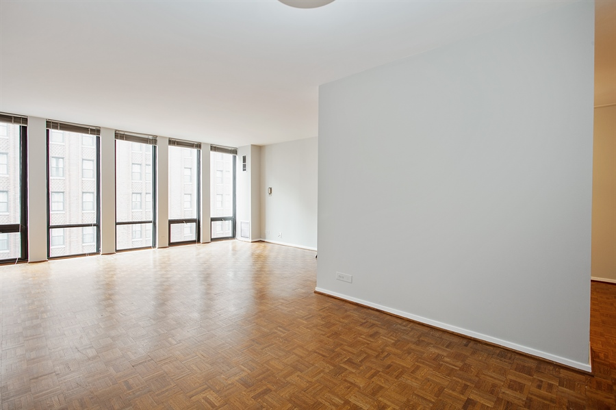 Real Estate Photography - 200 E Delaware, Unit 13E, Chicago, IL, 60611 - Living Room