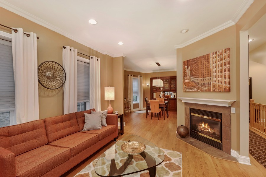 Real Estate Photography - 1641 W Winona, Unit 1, Chicago, IL, 60640 - Living Room