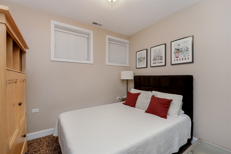 Real Estate Photography - 1641 W Winona, Unit 1, Chicago, IL, 60640 - 2nd Bedroom