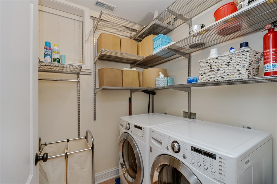 Real Estate Photography - 1641 W Winona, Unit 1, Chicago, IL, 60640 - Laundry Room