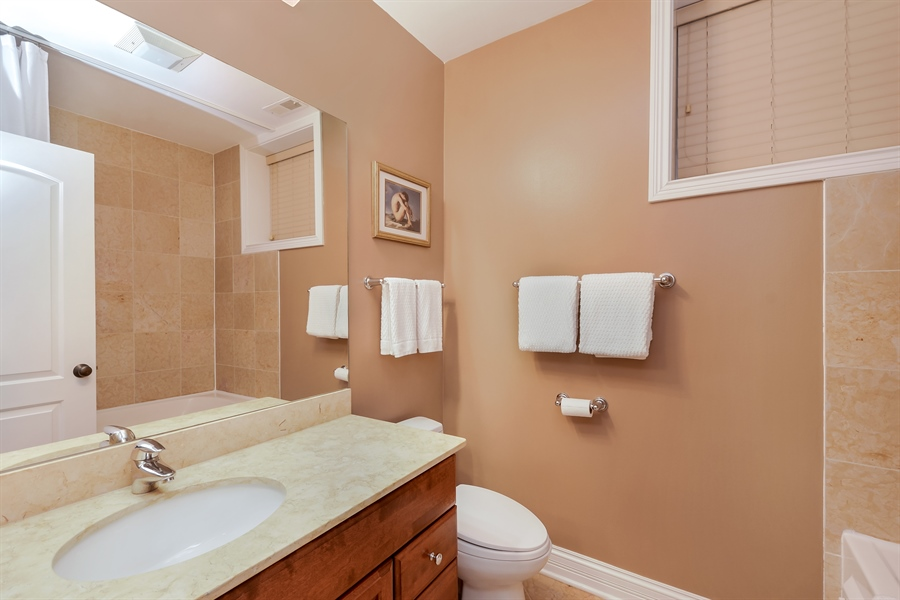 Real Estate Photography - 1641 W Winona, Unit 1, Chicago, IL, 60640 - 2nd Bathroom