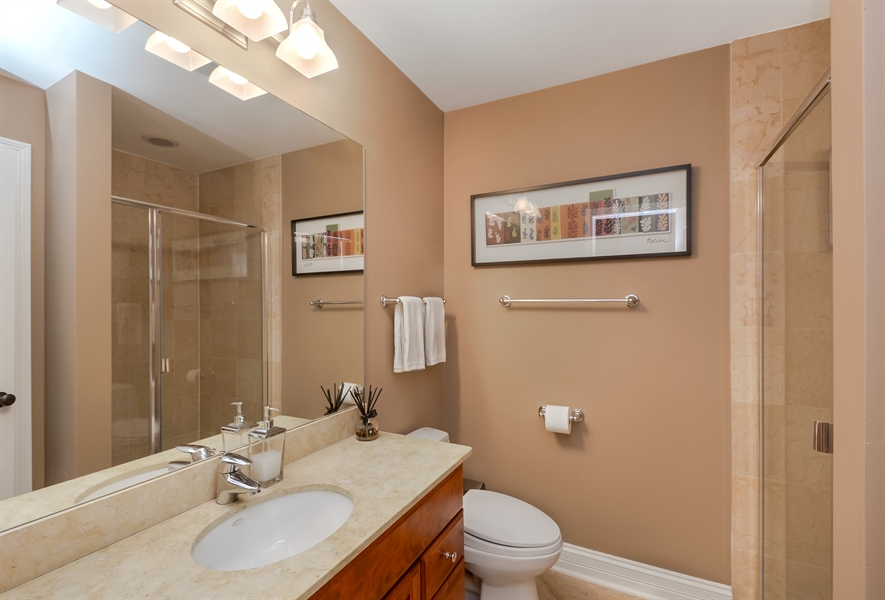 Real Estate Photography - 1641 W Winona, Unit 1, Chicago, IL, 60640 - 3rd Bathroom