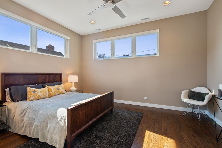 Real Estate Photography - 1046 N Damen, 2S, Chicago, IL, 60622 - Master Bedroom