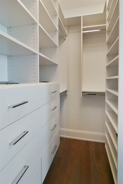 Real Estate Photography - 3913 N Janssen, Unit 2, Chicago, IL, 60613 - Master Bedroom Closet