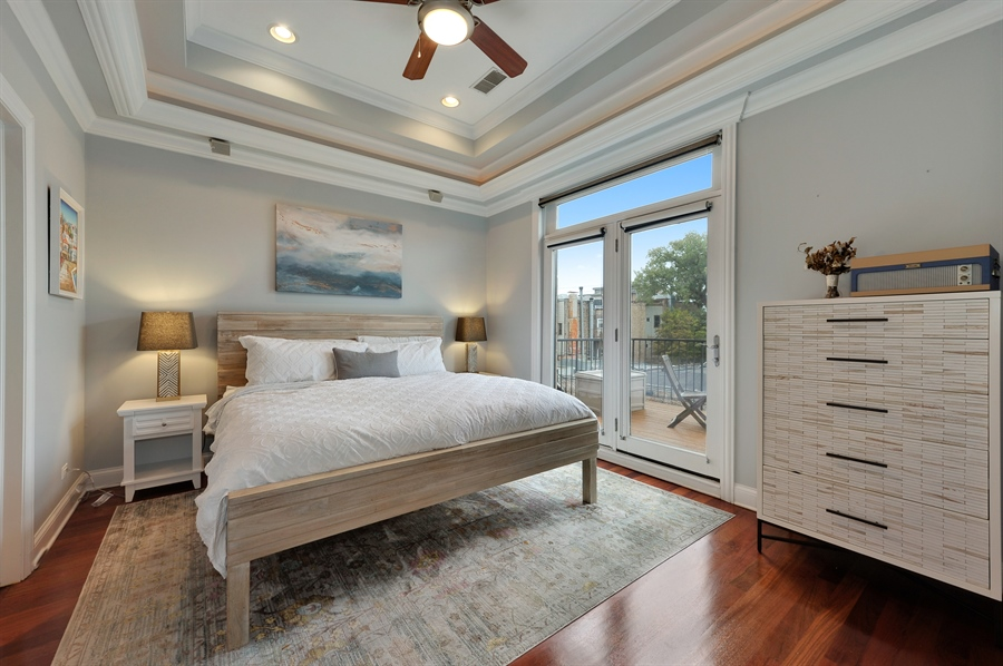 Real Estate Photography - 3247 N. Kenmore, 2, Chicago, IL, 60657 - Master Bedroom