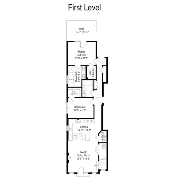 Real Estate Photography - 3247 N. Kenmore, 2, Chicago, IL, 60657 - Floor Plan