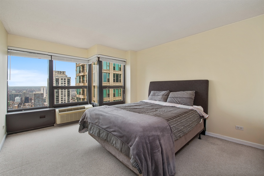 Real Estate Photography - 30 E. Huron St., 4705, Chicago, IL, 60611 - Master Bedroom