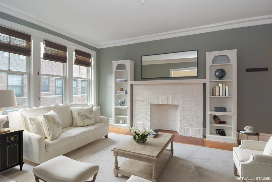 Real Estate Photography - 2319 N Commonwealth, 3E, Chicago, IL, 60614 - Living Room