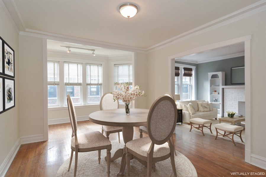Real Estate Photography - 2319 N Commonwealth, 3E, Chicago, IL, 60614 - Dining Room
