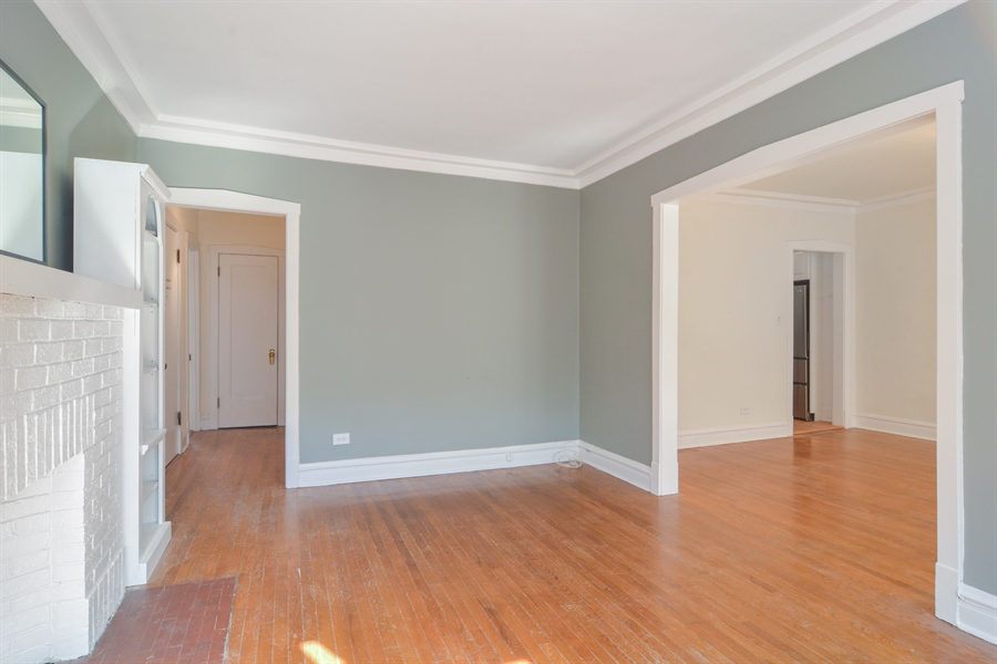 Real Estate Photography - 2319 N Commonwealth, 3E, Chicago, IL, 60614 - Living Room / Dining Room