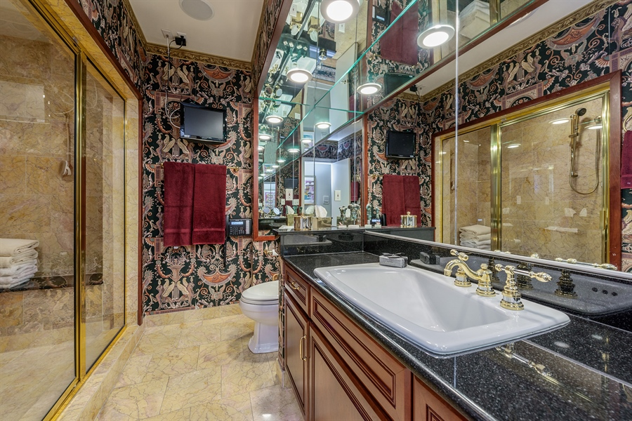 Real Estate Photography - 1252 N State Pkwy, Chicago, IL, 60610 - 1st Master Bathroom