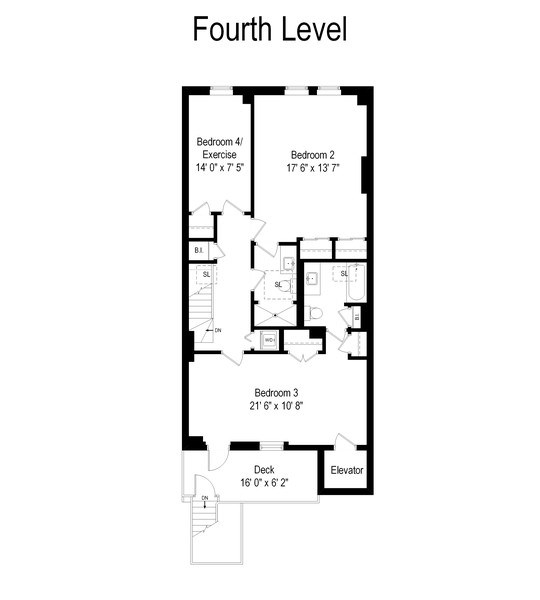 Real Estate Photography - 1252 N State Pkwy, Chicago, IL, 60610 - Floor Plan