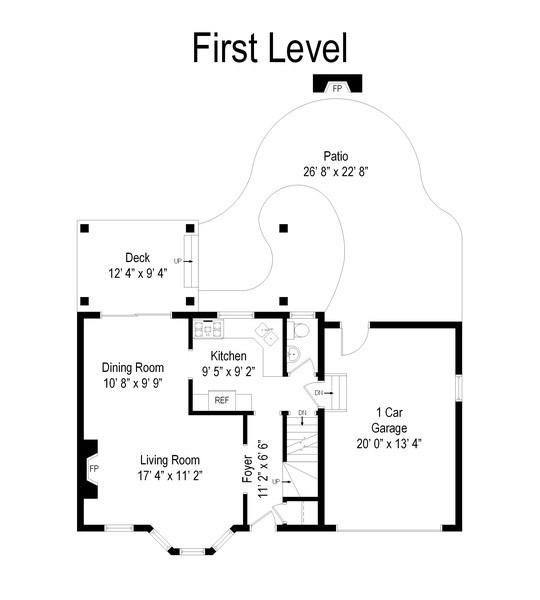Real Estate Photography - 1005 N Wilke Rd, Arlington Heights, IL, 60004 - Floor Plan