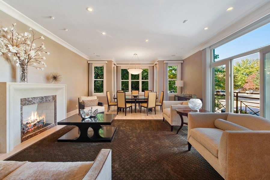 Real Estate Photography - 1225 W. Belden Ave., Chicago, IL, 60614 - Living Room
