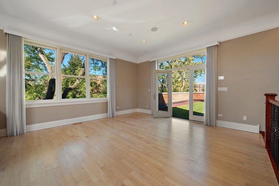 Real Estate Photography - 1225 W. Belden Ave., Chicago, IL, 60614 - 3rd Level - Rec Room with 2 roof decks