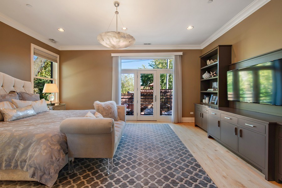 Real Estate Photography - 1225 W. Belden Ave., Chicago, IL, 60614 - Master Bedroom