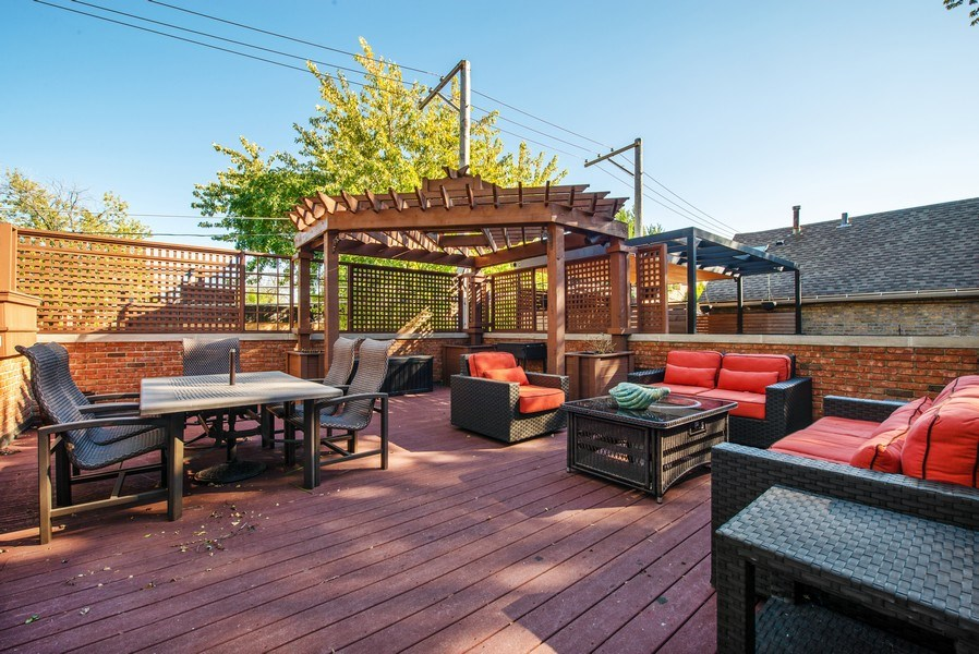 Real Estate Photography - 1225 W. Belden Ave., Chicago, IL, 60614 - Roof Deck #3 - Over the garage