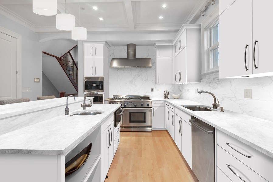 Real Estate Photography - 1225 W. Belden Ave., Chicago, IL, 60614 - White Kitchen