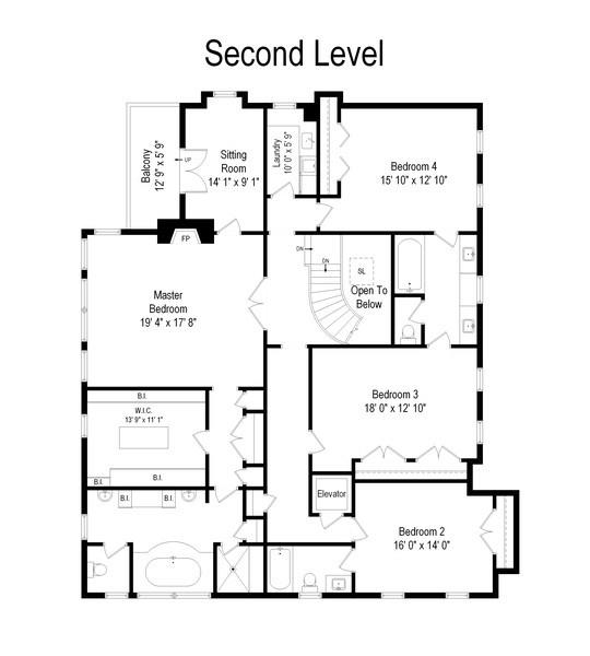 Real Estate Photography - 174 Beach Road, Glencoe, IL, 60022 - Second Level