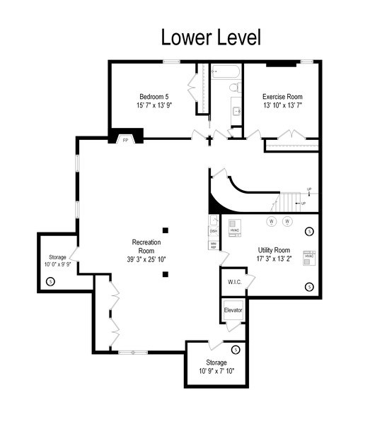 Real Estate Photography - 174 Beach Road, Glencoe, IL, 60022 - Lower Level