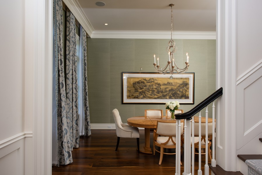 Real Estate Photography - 174 Beach Road, Glencoe, IL, 60022 - Dining Room