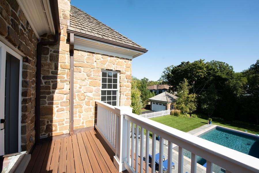 Real Estate Photography - 174 Beach Road, Glencoe, IL, 60022 - Master Bedroom Balcony