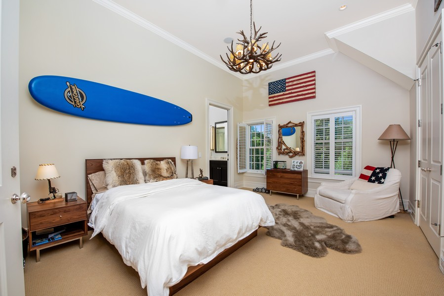 Real Estate Photography - 174 Beach Road, Glencoe, IL, 60022 - Bedroom