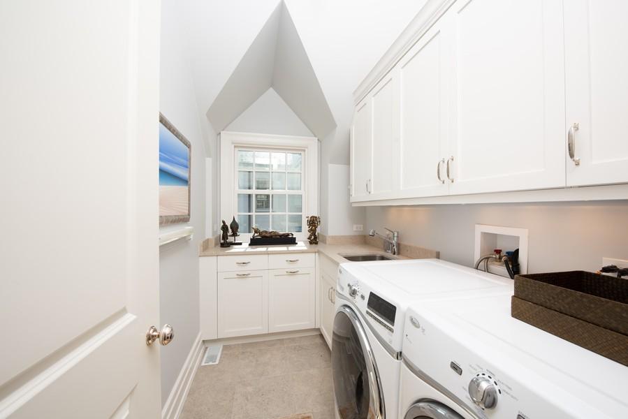 Real Estate Photography - 174 Beach Road, Glencoe, IL, 60022 - Second Floor Laundry Room