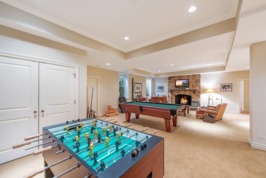 Real Estate Photography - 174 Beach Road, Glencoe, IL, 60022 - Recreation Room