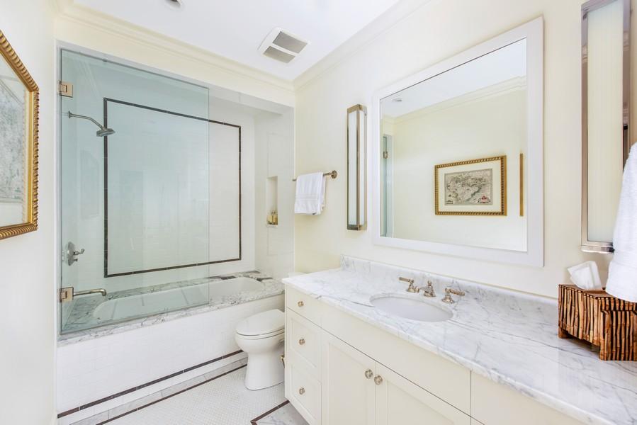 Real Estate Photography - 174 Beach Road, Glencoe, IL, 60022 - Lower Level Bathroom