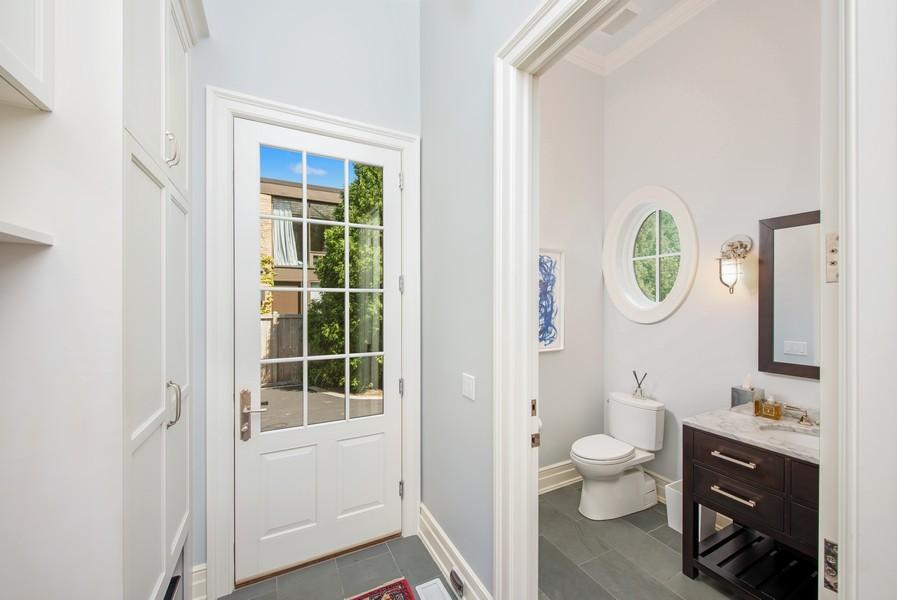 Real Estate Photography - 174 Beach Road, Glencoe, IL, 60022 - Mudroom Powder Room