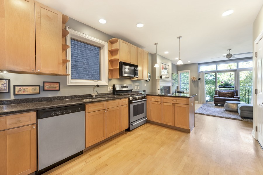 Real Estate Photography - 1246 N Noble, 2, Chicago, IL, 60642 - Kitchen