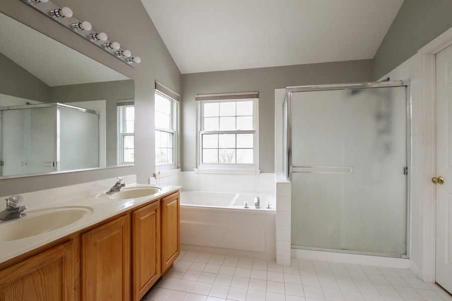 Real Estate Photography - 37156 Deerpath Dr, Lake Villa, IL, 60046 - Master Bathroom