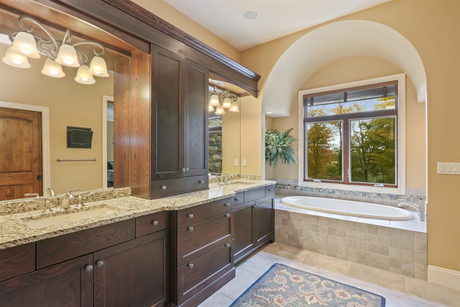 Real Estate Photography - 4945 S Stockbridge Dr, St. Joseph, MI, 49085 - Master Bathroom