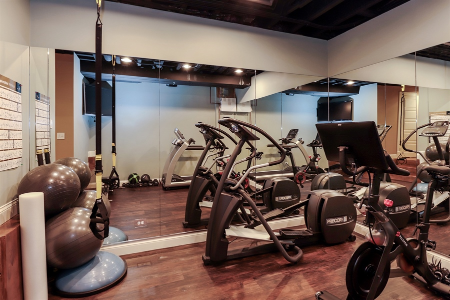 Real Estate Photography - 216 W Cook Avenue, Libertyville, IL, 60048 - Exercise Room