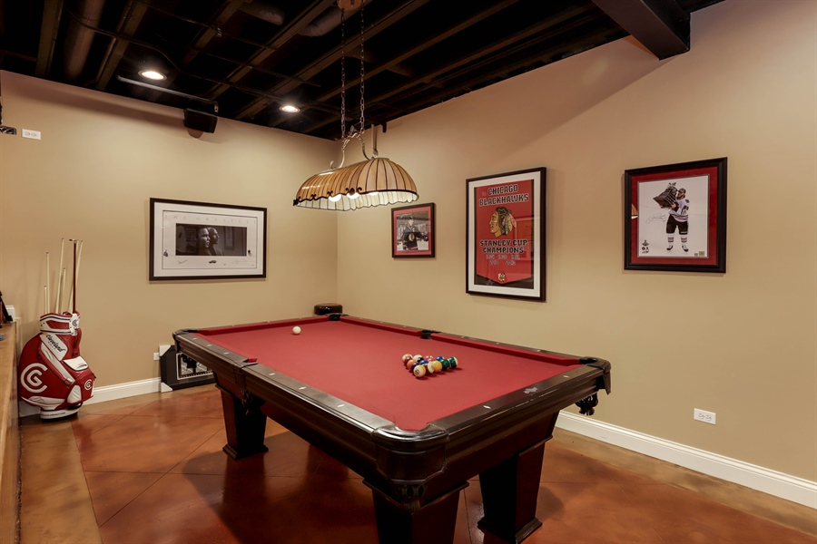 Real Estate Photography - 216 W Cook Avenue, Libertyville, IL, 60048 - Recreational Room