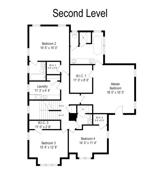 Real Estate Photography - 216 W Cook Avenue, Libertyville, IL, 60048 - Floor Plan