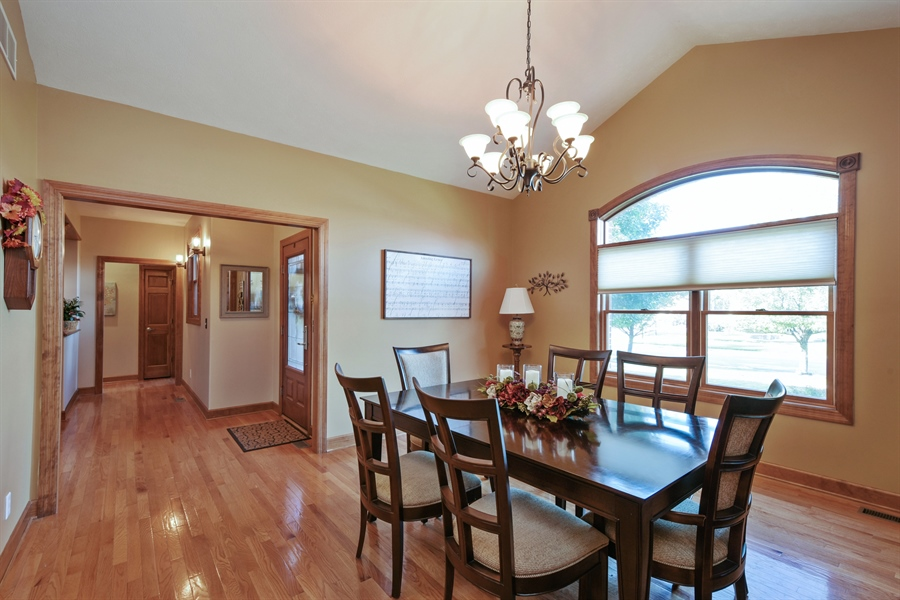 Real Estate Photography - 4231 Abercrombie Dr, Chesterton, IN, 46304 - Foyer/Dining Room