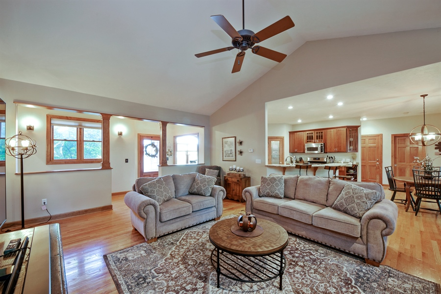Real Estate Photography - 4231 Abercrombie Dr, Chesterton, IN, 46304 - Living Room