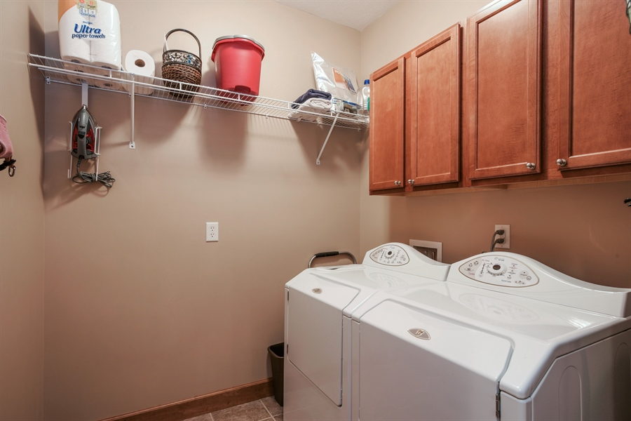 Real Estate Photography - 4231 Abercrombie Dr, Chesterton, IN, 46304 - Laundry Room