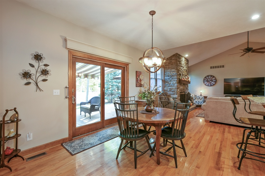 Real Estate Photography - 4231 Abercrombie Dr, Chesterton, IN, 46304 - Breakfast Nook