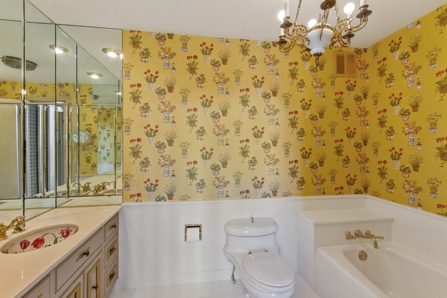Real Estate Photography - 1040 Lake Shore Drive, Unit 5B, Chicago, IL, 60611 - Master Bathroom